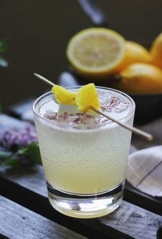 Mocktail Recipe: Lilac Lemon Fizz @themerrythought