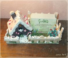 Christmas decoration handmade for my business cards.