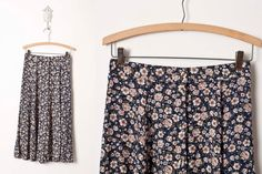 1980s Skirt  // Vintage Skirt // 80s Floral by vintagesalvation, $20.00