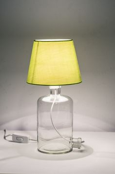 Table Lamp, Lighting, Bottle, Home Decor, Table Lamps, Decoration Home, Room Decor, Flask, Lights