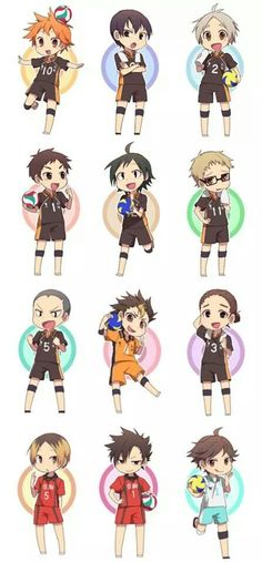 Haikyuu!! chibis. These are so cute!!!!!!!!! <3
