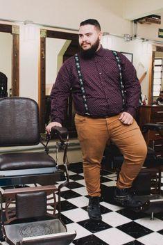 Profession : Plus Size Male Model - Mannequin homme grande taille - Diego Capuchinho - Chubby Men Fashion, Mens Plus Size Fashion, Large Men Fashion, Look Fashion, Man Fashion, Men's Fashion Tips, Fashion Styles, Fashion Ideas, Plus Size Men