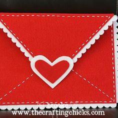 Felt chair envelope. Valentines Day