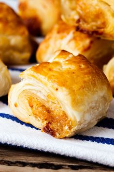 Vegetarian Sausage Rolls that Meat-Eaters Love Too! - A simple pastry treat for vegetarians and meat-eaters alike.  Really easy to make at the same time as meaty sausage rolls - to keep all your guests happy.