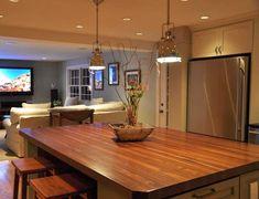 Custom Mahogany Wood Kitchen Countertop in Blue Bell, PA https://www.glumber.com/