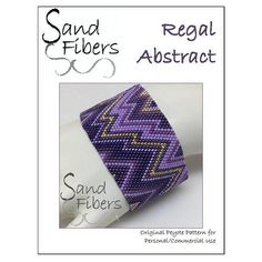 Peyote Pattern  Regal Abstract Cuff / Bracelet  A Sand