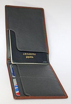 JESPER Passport Holder Protector Wallet Business Card Soft Passport Cover Leather Black