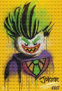 'Lego Batman Movie' Graffiti Posters - Lego Joker