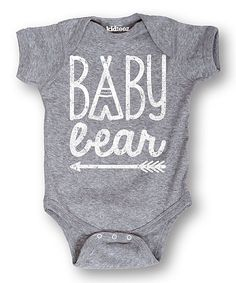 Look at this LC Trendz Athletic Heather 'Baby Bear' Bodysuit - Infant on today! Baby Boys, Our Baby, Baby Outfits, Baby Boy Fashion, Kids Fashion, Fashion Clothes, Cute Baby Clothes, Babies Clothes, Everything Baby