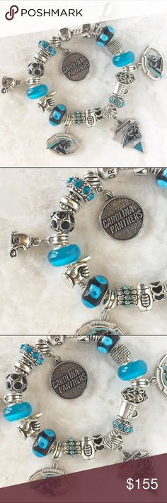Women's Carolina Panthers Pandora Unforgettable Moment Sterling Silver Charm