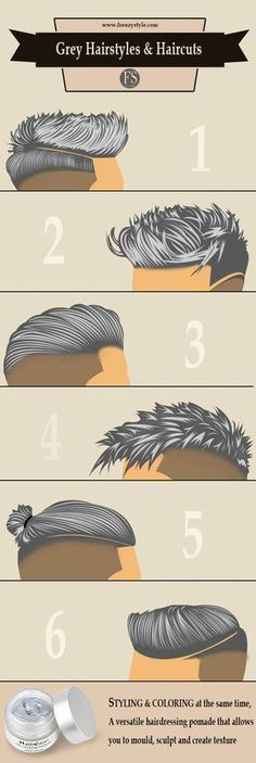 6 Grey Hairstyles & Haircuts for guys - styling and coloring at the same time
