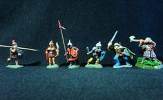 Dungeons & Dragons Miniatures - 6 Assorted Fighters - Ral Partha !! 1980's