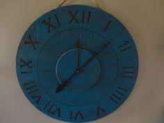 distressed wood clock - Google Search