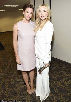 Just the two of us: Jennifer and Kate looked happy to hang out backstage together...