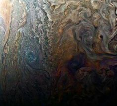 Like a galaxy of swirling storms, this color-enhanced image of Jupiter was acquired by our @NASAJuno spacecraft: go.nasa.gov/2o9I6MJ