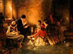 Gyzis Nikolaos (Greek, 1842 - 1901): The underground school