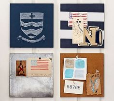 Build Your Own Stanton Wall System #pbkids burueau...chalk board paint navy stencil numbers