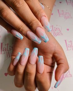 In search for some nail designs and some ideas for your nails? Here's our set of must-try coffin acrylic nails for cool women. Short Square Acrylic Nails, Clear Acrylic Nails, Acrylic Nails Coffin Short, Simple Acrylic Nails, Summer Acrylic Nails, Acrylic Nail Designs, Coffin Nails, Summer Nails, Acrylic Art
