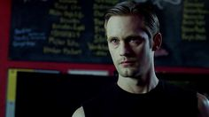 Alexander Skarsguard <3   YOU CAN ACTUALLY BUY TRUE BLOOD T-SHIRTS <3 Click Eric's face <3  #alexander #skarsguard #trueblood #True #blood #vampire #eric #northman