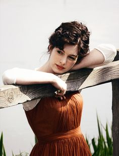 Becoming Jane (2007). Anne Hathaway as Jane Austen. #CostumeDesign by Eimer Ni Mhaoldomhnaigh