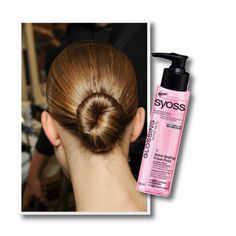 To get this look, as seen at the Givenchy spring 2013 show, part your hair straight down the middle Cabello Underlights, Underlights Hair, Givenchy, Bun Hairstyles, Straight Hairstyles, Fashion Hairstyles, Gorgeous Hairstyles, How To Bun, Damp Hair Styles