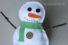 Stuffed Snowman Sewing Craft for Kids - The Imagination Tree