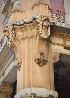 Detalhes da arquitetura de Florença