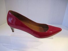 Cole Haan Red Patent Nike Air Kitten Heel Pumps size 7 1/2 B #ColeHaan #KittenHeels #Fromworkthenevening