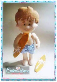 boneco surfista em feltro molde, surfista em feltro molde, parte 1