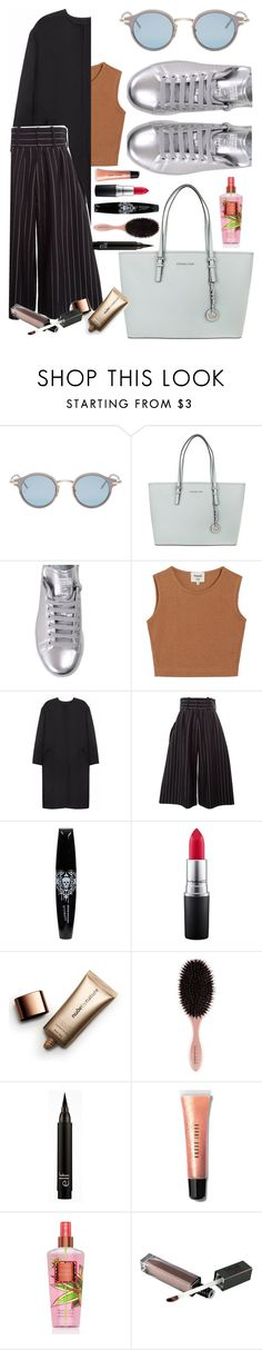 """""""Silver shoes 👄"""" by xxmichelleg ❤ liked on Polyvore featuring Thom Browne, Michael Kors, adidas, Samuji, Non, J.W. Anderson, MAC Cosmetics, Nude by Nature and Bobbi Brown Cosmetics"""