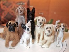 felted miniature animals - Google Search