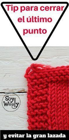 Un tip muy fácil pero efectivo para evitar que quede una gran lazada al cerrar el último punto #cerrarlospuntos #tips #trucos #dosagujas #tricot #soywoolly #aprenderatejer #tejer #tutorial #punto #knitting101 #tejido #pasoapaso #video #comocerrarlospuntos #tejidoamano #tejidoapalillos #calcetar #tricotar