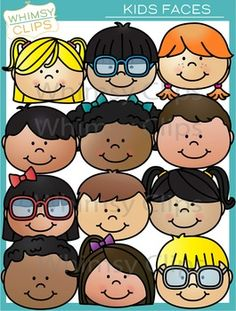 This kids faces clip art set contains 24 image files, which includes 12 color images and 12 black & white images in png. All images are for better scaling and printing. 2 Clipart, Cute Clipart, Kindergarten Activities, Activities For Kids, Valentines Day Clipart, Black N White Images, Black White, Sick Kids, Bee Design