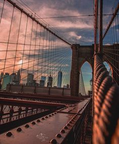 Brooklyn Bridge, NYC ❤️                                                                                                                                                                                 More