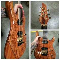 Koa Kiesel K-Series 7-string (owned by Scott Carstairs of Fallujah)