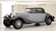 A Phantom II Continental convertible with a body by coach builder Freestone and Webb.