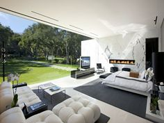 Modern luxury glass walled home - Montecito, CA