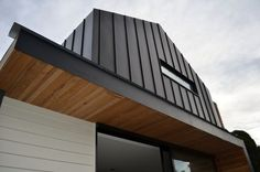 vertical cedar with charcoal zinc - Google Search