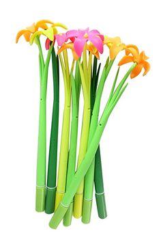 Amazon.com : Cute Novelty Grass flower Design Gel Ink Rollerball Pens For Kids School Teacher Teens Office, A group of 12, Random Color : Office Products