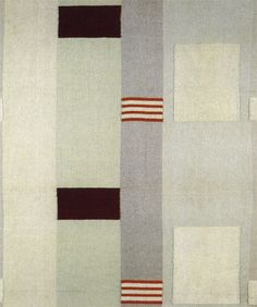'Pillar' (1937) by English sculptor Barbara Hepworth (1903-1975). woven cotton and rayon furnishing fabric, produced by Edinburgh Weavers.