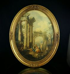 Turner Roman Ruins Framed Art Print Painting French Wall Art by OldGLoriEstateSale on Etsy