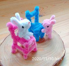 #絨毛鐵絲 #OriginalPipeCleaner #ChenilleStem #モールアート #rabbit #毛根
