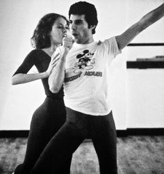 Pictures of Freddie Mercury rehearsing with the Royal Ballet in 1979