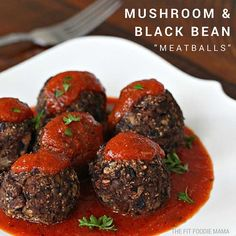 Black Bean and Mushroom Meatballs http://www.prevention.com/food/meatless-meatball-recipes/slide/4