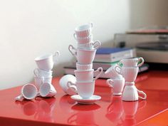 Topsy Turvy Teacups Stacking Game, $48 by Imm-Living.com, sold at multiple locations. Great centerpiece for entertaining guests!