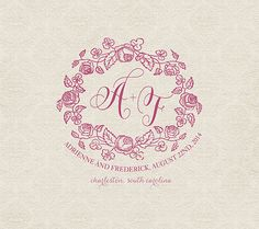 Custom Wedding Monogram  Wedding logo от RoseBonBonShop на Etsy