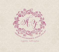 Custom Wedding Monogram Logo