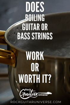 Does Boiling Guitar Or Bass Strings Work Or Worth It? – Rock Guitar Universe Guitar Tips, Guitar Songs, Guitar Lessons, Acoustic Guitar Strings, Cheap Guitars, Music Theory, Cool Guitar, Playing Guitar, Bass