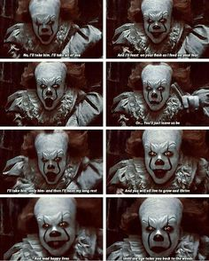 Pennywise loves Bill I can tell<< new ship XD Scary Movies, Horror Movies, Good Movies, Que Horror, Horror Art, Funny Horror, Bill Skarsgard Pennywise, Pennywise The Dancing Clown, Horror Icons