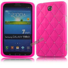 For-Samsung-Galaxy-Tab-3-7-0-P3200-Crystal-Bling-Soft-Silicone-Back-Case-Cover